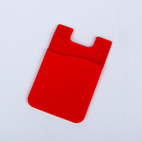 Newest silicone back phone pouch with 3m sticker cell phone credit card holder