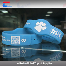 rubber waterproof bracelet 13.56mhz passive nfc silicon wristband