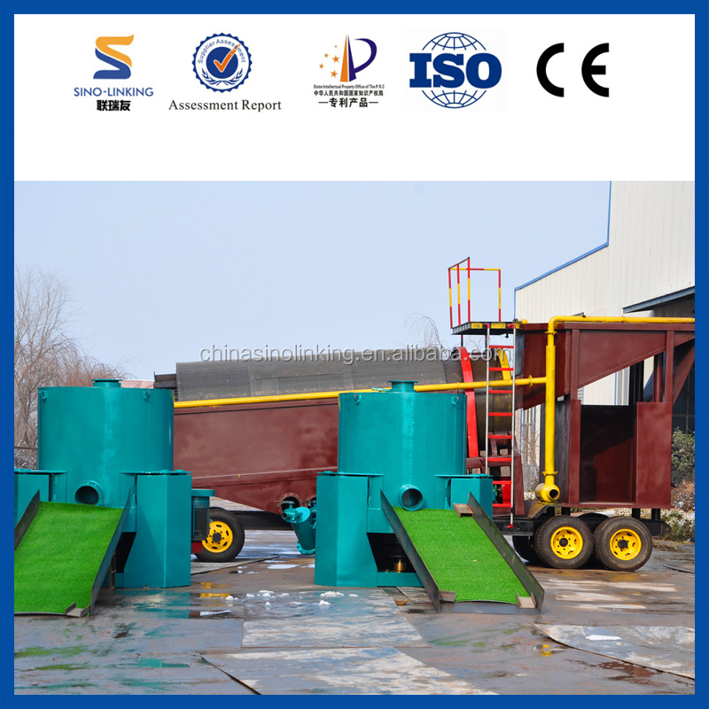 SINOLINKING Clay Alluvial Gold Drum Scrubber Trommel for Clay Gold Washing and Recovery