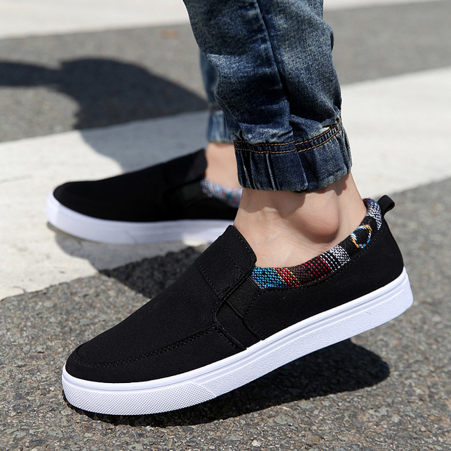 M1155 Hot selling man sneaker shoes fashion slip on men canvas shoes