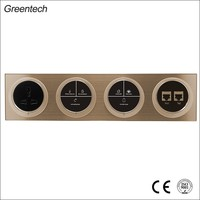Hotel Colored Conjoined Smart Touch Light Switch 4 Gang Switch