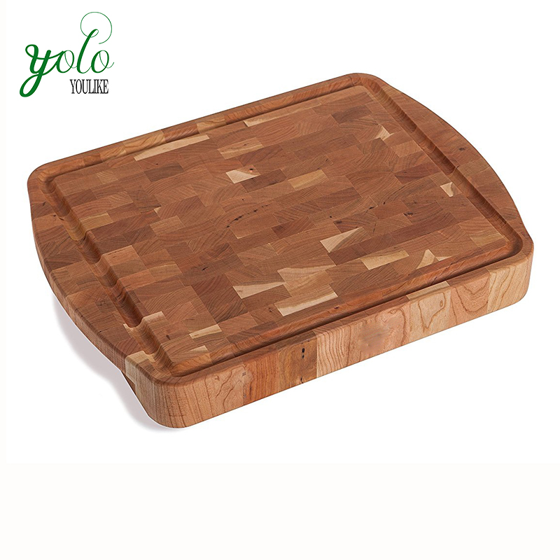 Kitchen food grade Large bamboo Carving cutting Board with groove