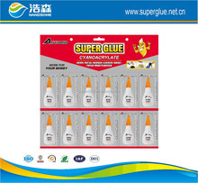 super glue with plastic bottles packing