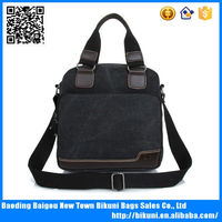New fashion canvas shoulder bag canvas bags wholesale canvas leather bag custom