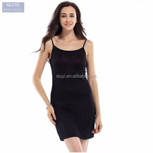 Women Slips Under dress Healthy Anti emptied 2017 silk slip dress Nude Black White evening dresses made in china