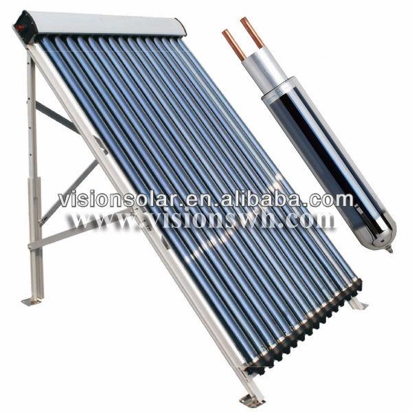 High Efficient Anti-freezing Evacuated Tube Solar Collector with U Pipe