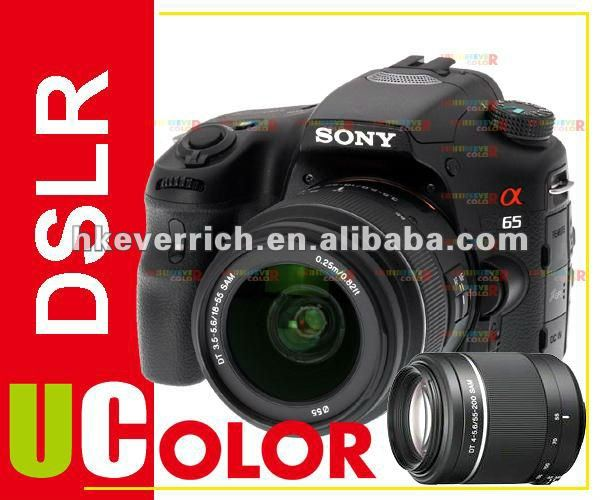 Genuine Sony Alpha A65VY SLT A65 CAMERA + 18-55mm + 55-250mm 2 Lens Kit