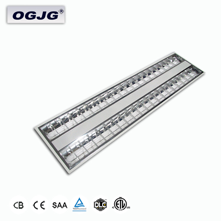 3000k 4000k 5000k 6000k conference room microwave sensor aluminum louver light Triac dimming steel housing LED Grille Lamp