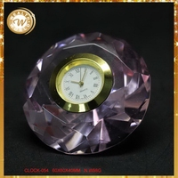 Newest best selling decor crystal airplane clock