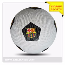 Official size and weight new arrival rubber soccer balls rubber footballs