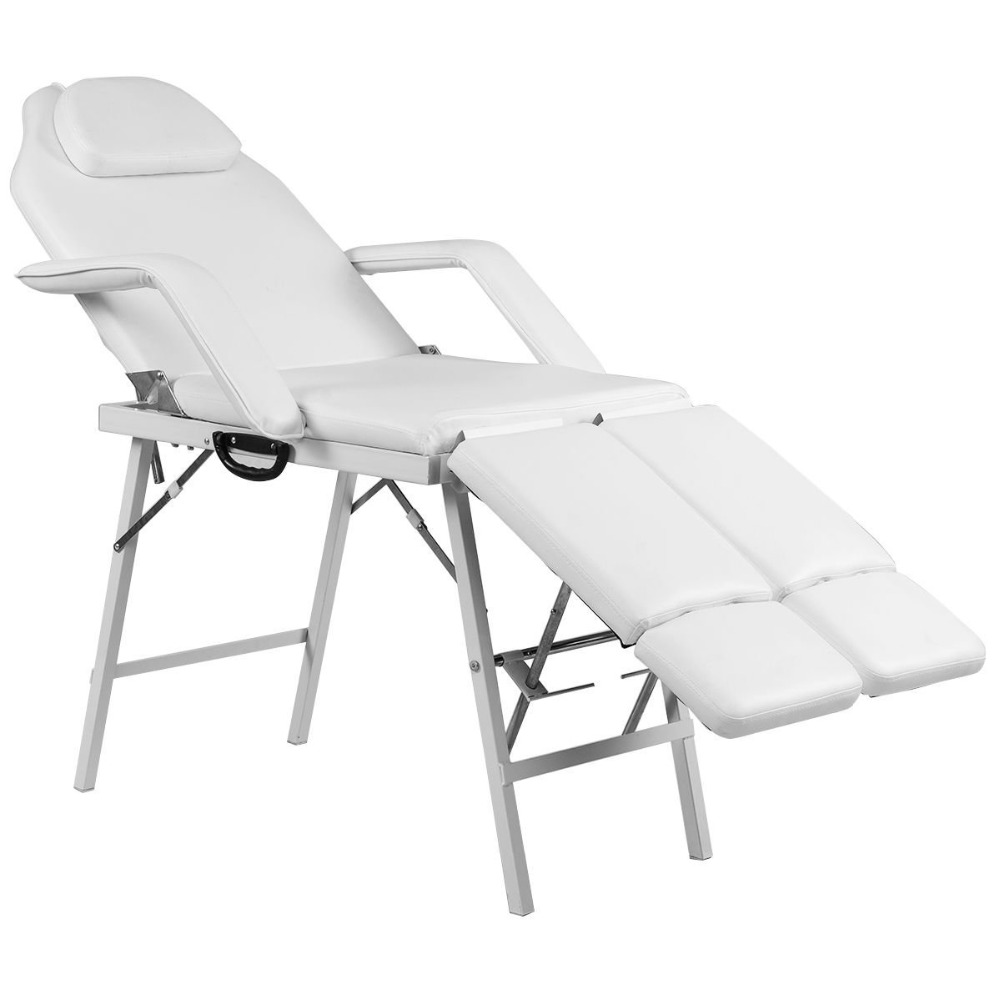 Portable Tattoo Parlor Spa Salon Facial Bed Beauty Massage Table Chair White