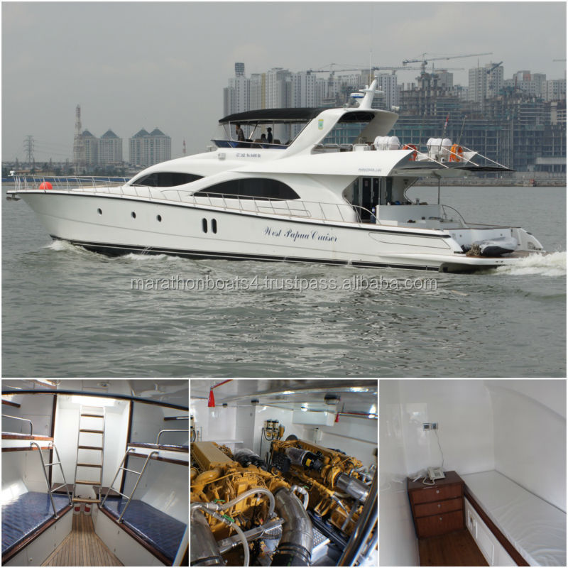Brand New Marathon 100 Flybridge Cruiser Luxury Yacht Motor Vessel from Indonesia