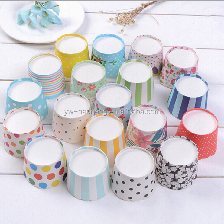 food grade color printing muffin cup cake paper/ripple wall paper cup/cake wrapping paper