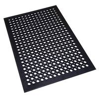Hydrophobic water very well perforated rubber mats