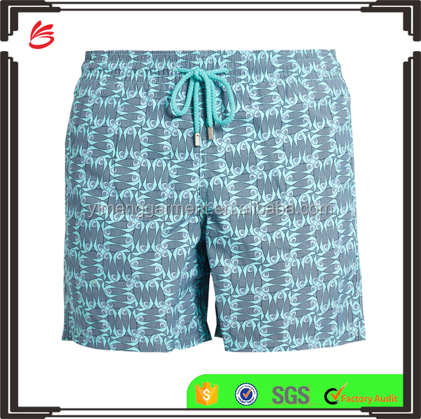 High Quality Swimwear Custom Solid Color or Printing Wholesale Mens Swimwear