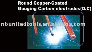 Round Copper Coated Gouging Carbon Electrodes
