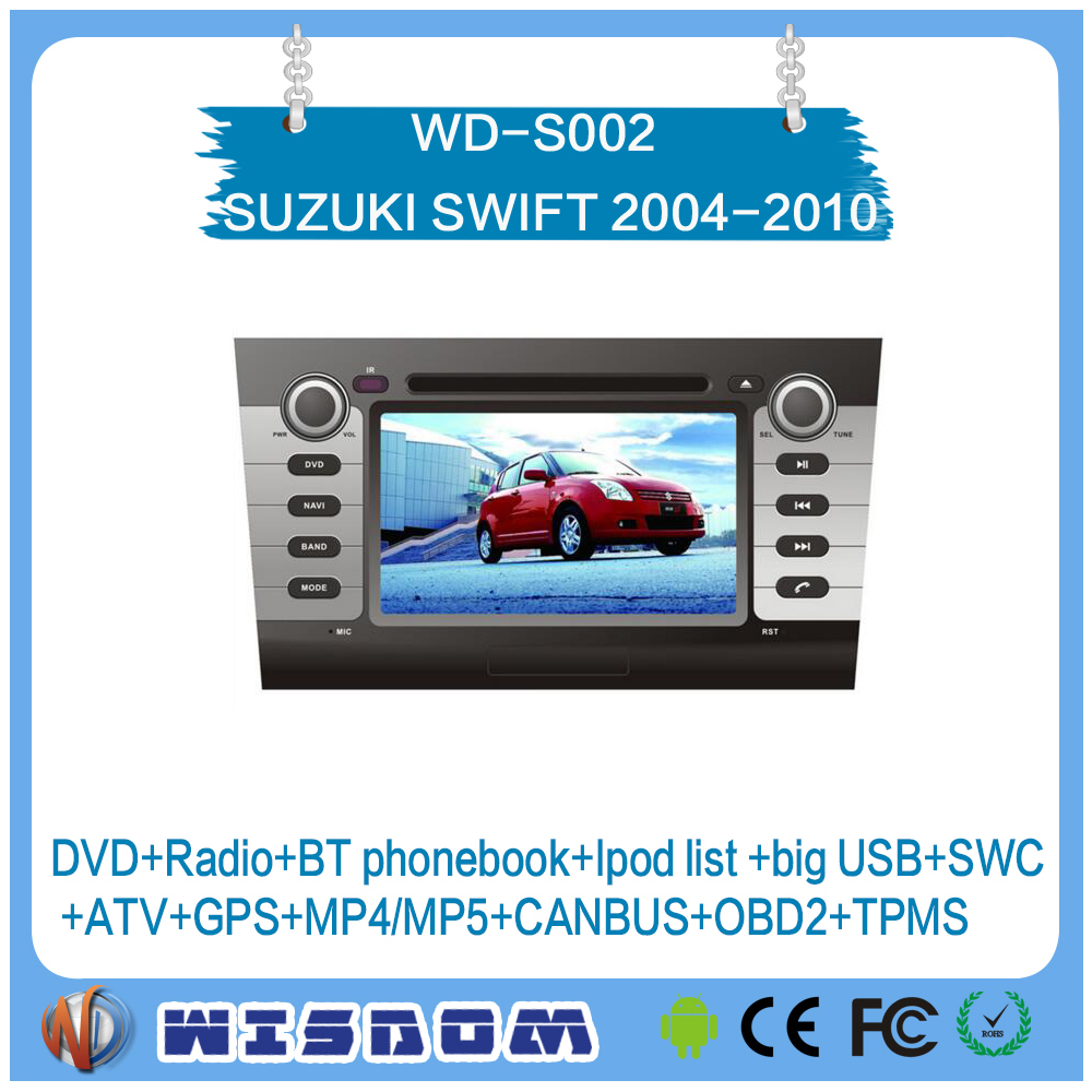 Factory price 2 din car dvd gps for SUZUKI SWIFT 2004 2005 2006 2007 2008 2009 2010 touch screen car stereo android system ipod