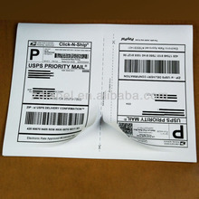 Zebra direct thermal shipping printer labels