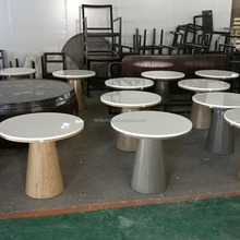 mushroom shape artificial stone table top with MDF base dining table