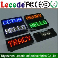 scrolling led message badge waiters led name badge