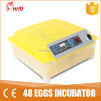 YZ8-48 2016 Toppest sale HHD automatic mini poultry/chicken/goose/bird egg incubator china hot sale