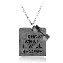 Fitness Jewelry I KNOW WHAT I WILL BECOME Dumbbell Necklace