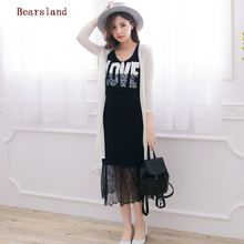 Cotton Lace Breastfeeding Clothes Spring and Autumn For Pregnant Women Maternity Nursing Dress