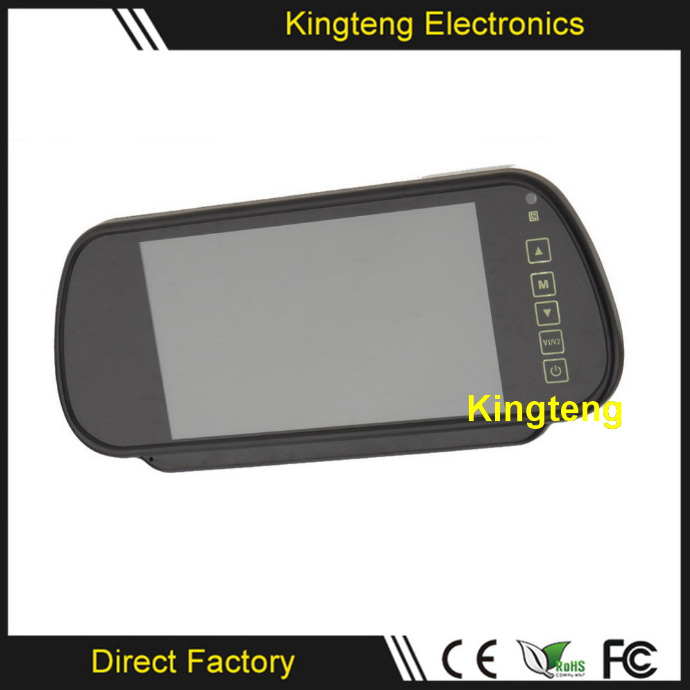 KT-602H 7 Rearview Mirror Car Monitor Led TFT Motorized LCD Car Monitor With Dual Input