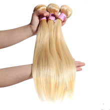 Wholesale raw blonde cuticle aligned virgin 613 brazilian hair in guangzhou,brazilian remy hair 100 human hair