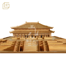 museum exhibits wooden model of ancient Chinese king's palace