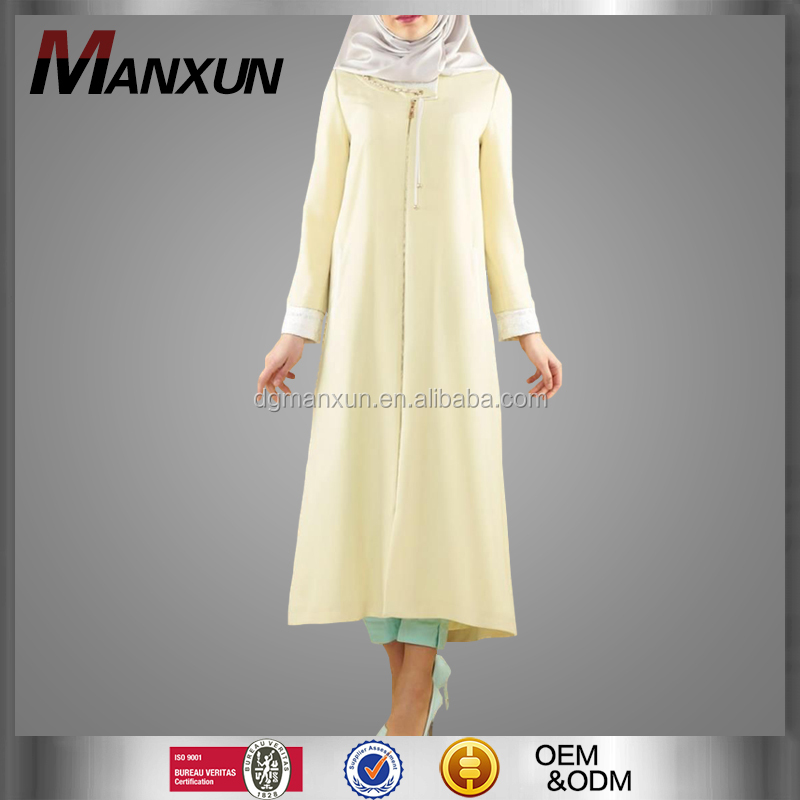 Latest casual muslim women tunic tops wholesale trendy long muslim blouse turkish tunic dress