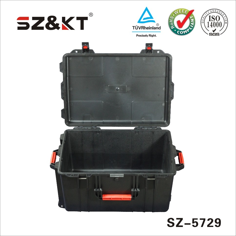 Plastic waterproof case for equipments and instruments