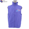 men clothing cheap 3D printing nylon taslon purple regular fit reflective vest jacket with hood