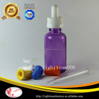 15ml 30ml purple glass dropper bottles for cosmetic -hot sale USA