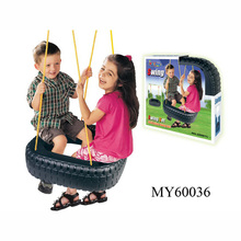 2 peoples Tire Swing / wheel shape Plastic Children Toy Swing Set with double children