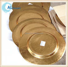 wholesale gold charger plate dinner plate