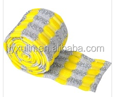 hot sale gold and silver cloth raw material to make sponge scourer