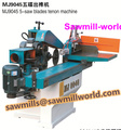 pneumatic end face double shaft milling and tenoning machine