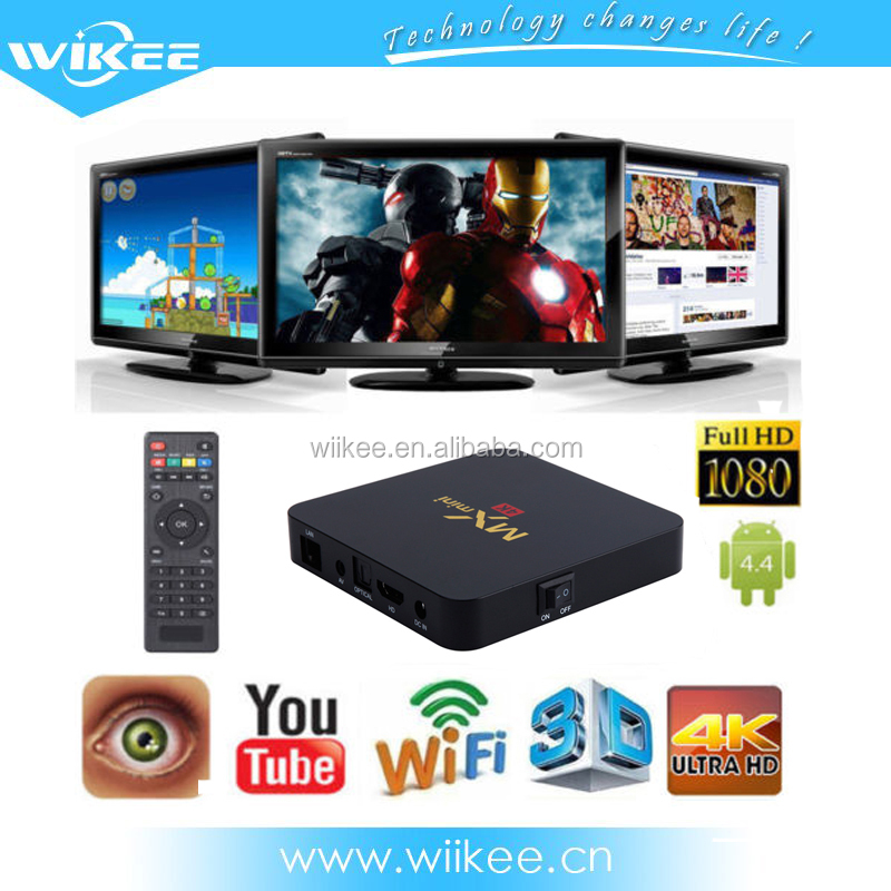 Android 5.1 Quad Core Smart Tv Box MX Mini Amlogic S905 1GB/8GB Smart Tv Box Support Google Play Store App Download