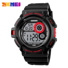 promotional cheap classic digital sport watches simple fob watch buckle plastic for men