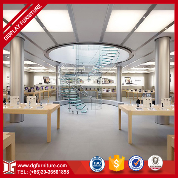 Top quality wood electronics shop counter design