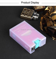 Customized Transparent Thicker PP Plastic Cigarette Sleeve Case Holder Pack