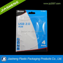 China suppliers USB clamshell packaging slide blister packaging with printed card