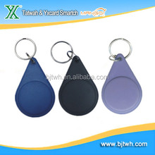 125khz RFID ABS smart keytag with waterproof and printing