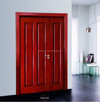 Mother-son solid wooden door for interior/exterior use