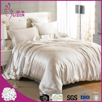 Top quality factory wholesale 100% luxury silk bedding set