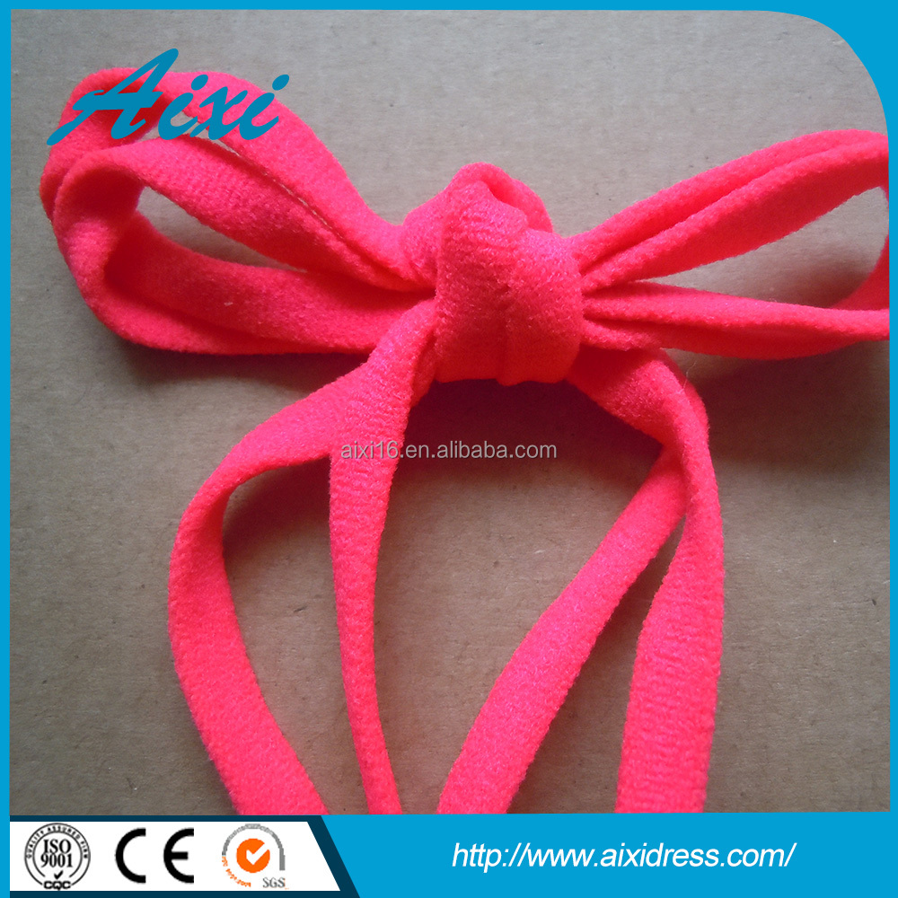 Red flat rubber stretch cord/elastic rope