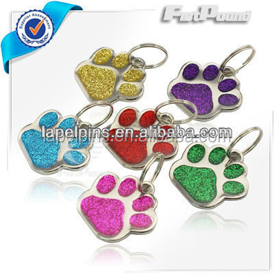 2015 hot selling Glitter Customized Fancy Self pet tag