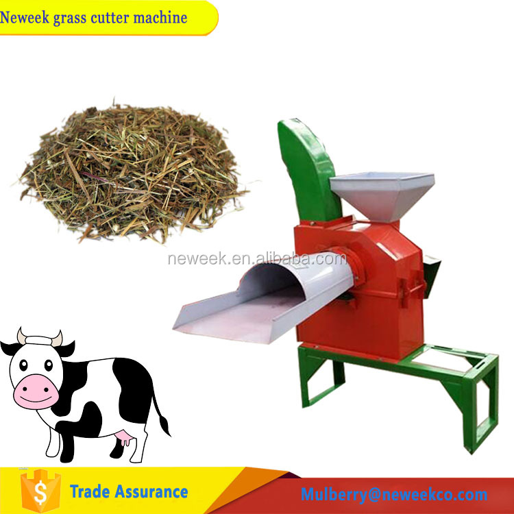 Neweek small farm feed animal <strong>corn</strong> stalk green grass hay cutter crusher