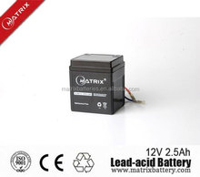 12v 2.5AH chinese motorcycle parts battery price